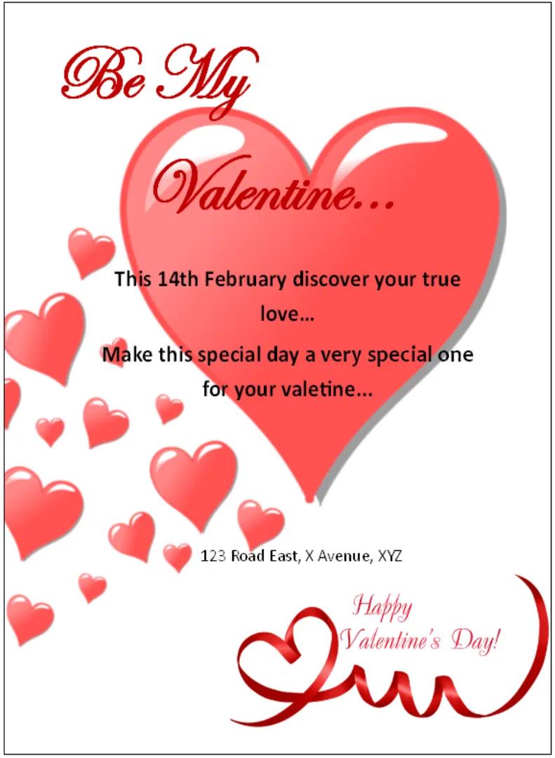 2020 Valentine S Day Flyer Templates Publisher Flyer Templates Valentine Party Invitations Flyer Template Invitation Flyer