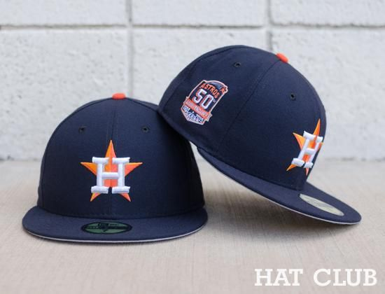 d1ee0088491 Custom Houston Astros NEW ERA 59Fifty Fitted Cap   HAT CLUB