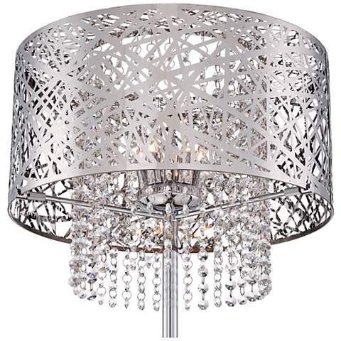 Possini Euro Chrome Nest Crystal Chandelier Floor Lamp ...