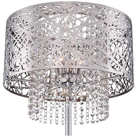 Possini Euro Chrome Nest Crystal Chandelier Floor Lamp 4d354 Lamps Plus Master Bedroom