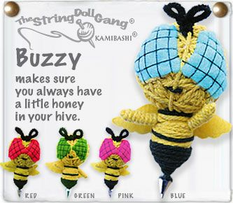 Kamibashi Buzzy the Bumble Bee The Original String Doll Gang Keychain Clip