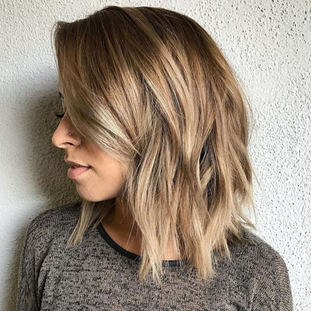 sensational medium length haircuts for thick hair blonde hair
