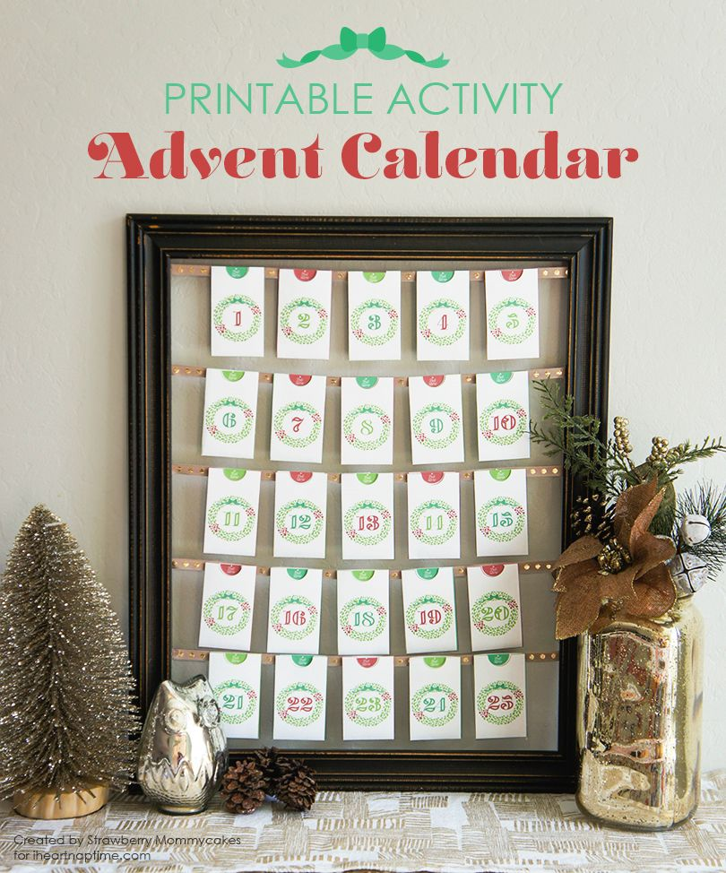 printable activity advent calendar nap times much and. Black Bedroom Furniture Sets. Home Design Ideas