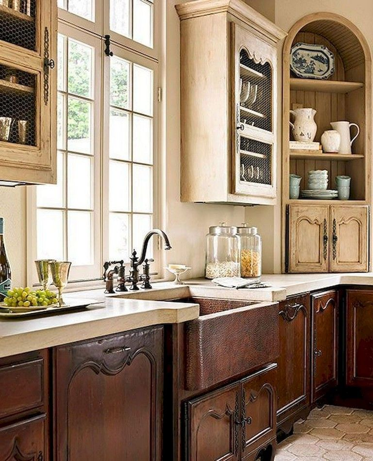 67 the top rustic farmhouse kitchen cabinets ideas french country kitchens country kitchen on farmhouse kitchen cabinets id=59146