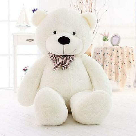 29fd6063c67a8 Hot GIANT CUTE WHITE PLUSH TEDDY BEAR HUGE SOFT 100% COTTON TOY 31 ...
