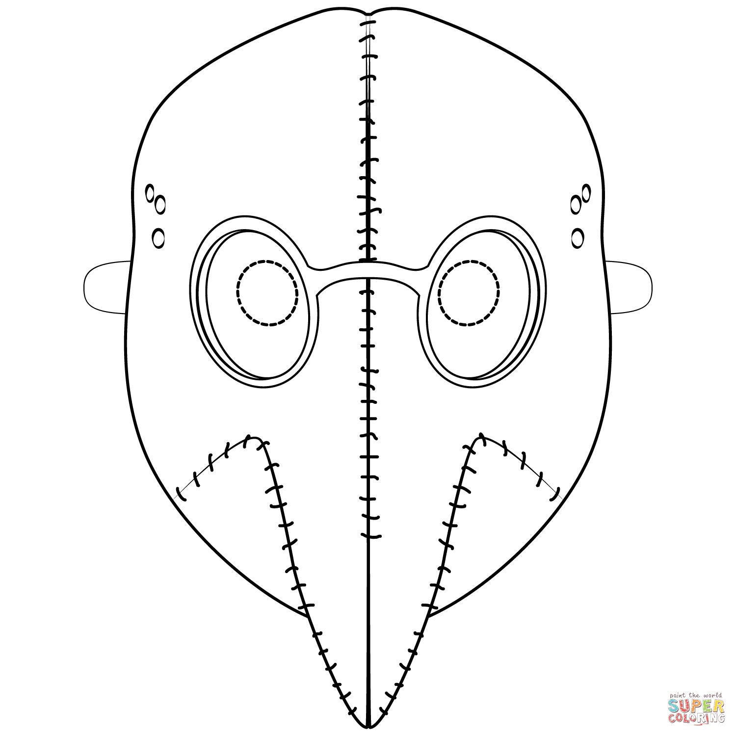 Plague Mask Coloring Page Free Printable Coloring Pages Plague Mask Free Printable Coloring Pages Coloring Pages