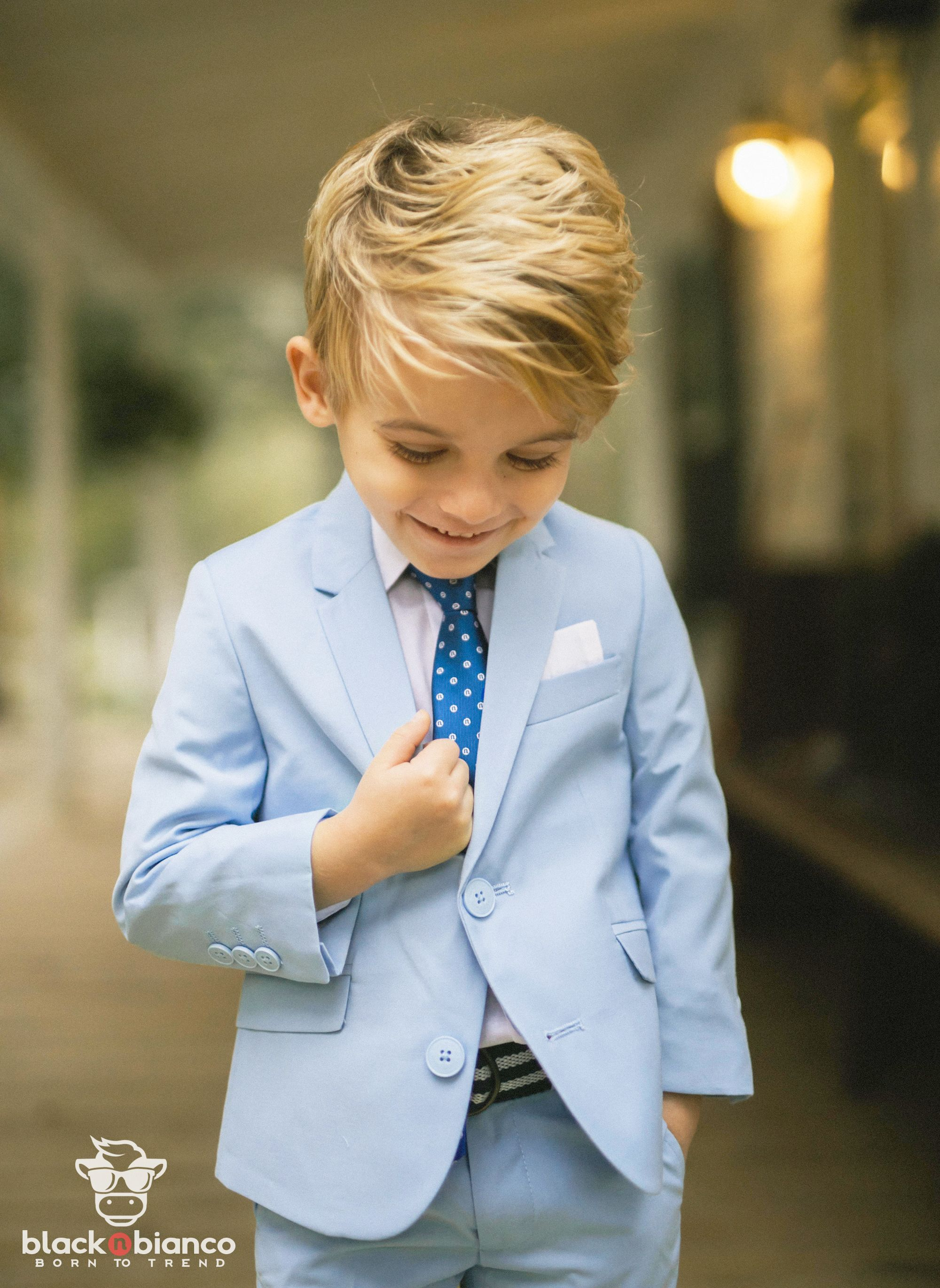 90fe43224 Designed and Made for Boys. Our first class slim fit suit in light blue is  the perfect little tailored suit for boys and kids of all ages.