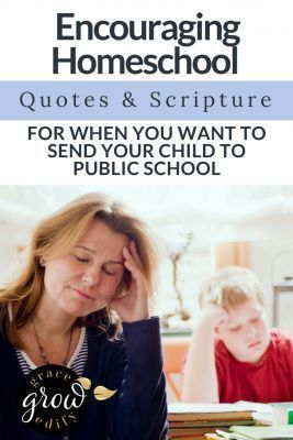 Comforting Homeschool Quotes and Scripture When Yo