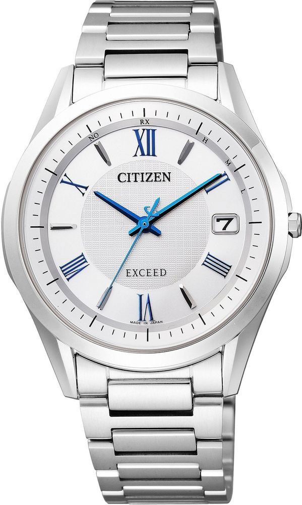 CITIZEN Watch EXCEED Eco-Drive Radio Clock Pair Мodel AS7090-69A Men's japan #CITIZEN