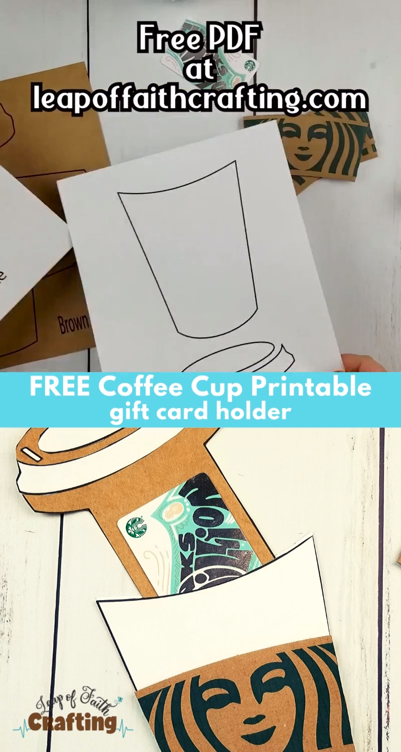 Diy Coffee Cup Gift Card Holder Coffee Gifts Card Gift Card Holder Gift Card Holder Template