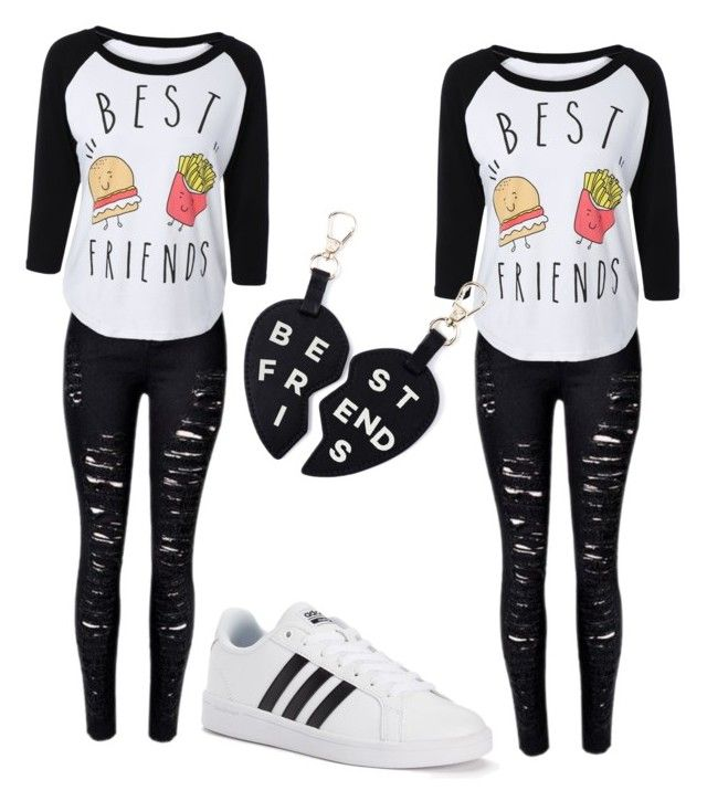 """Best friends two"" by gabs129-1 ❤ liked on Polyvore featuring adidas"