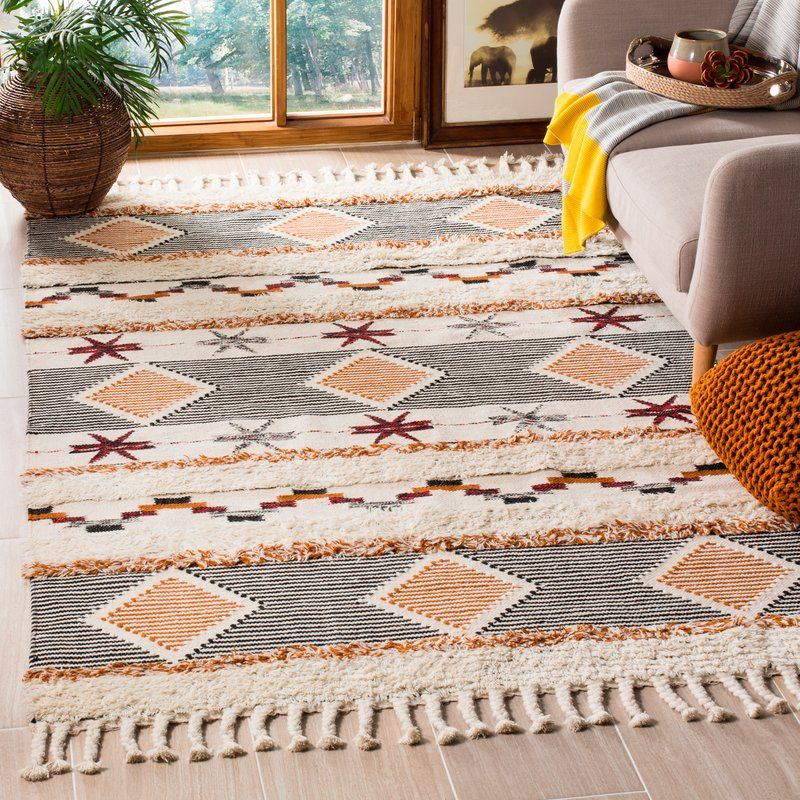 Aten Hand Knotted Wool Ivory Area Rug Rugs On Carpet Area Rugs Rugs