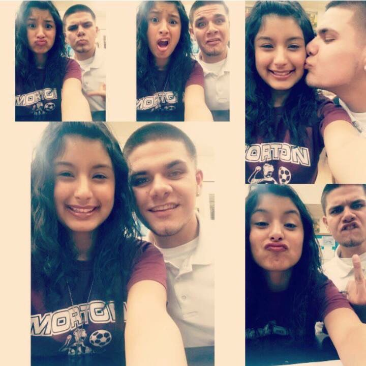 Junior year when we were clueless about our feelings being mutual towards one another.