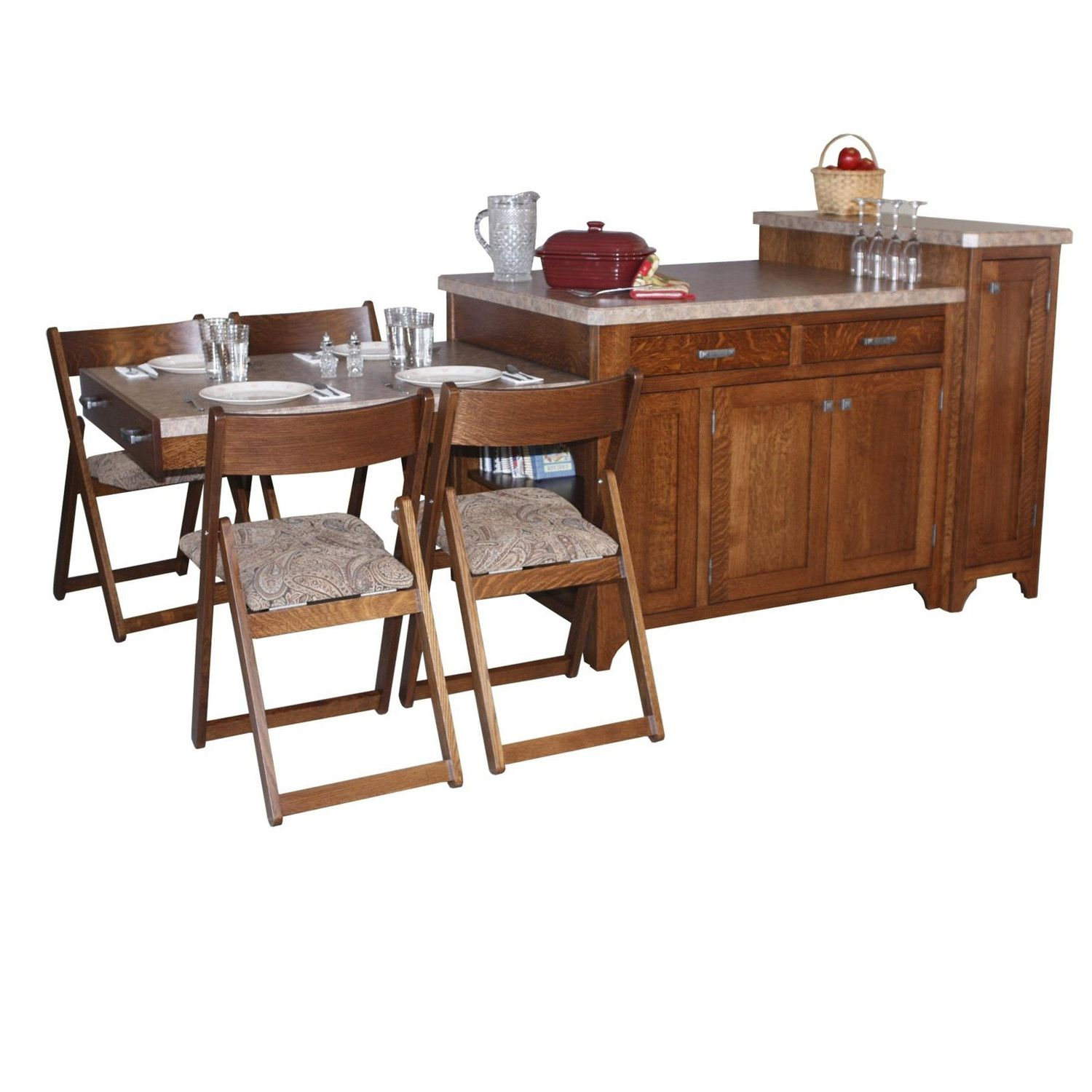 Chelsea Home Kitchen Island Set with Granite Top | Tiny Living ...