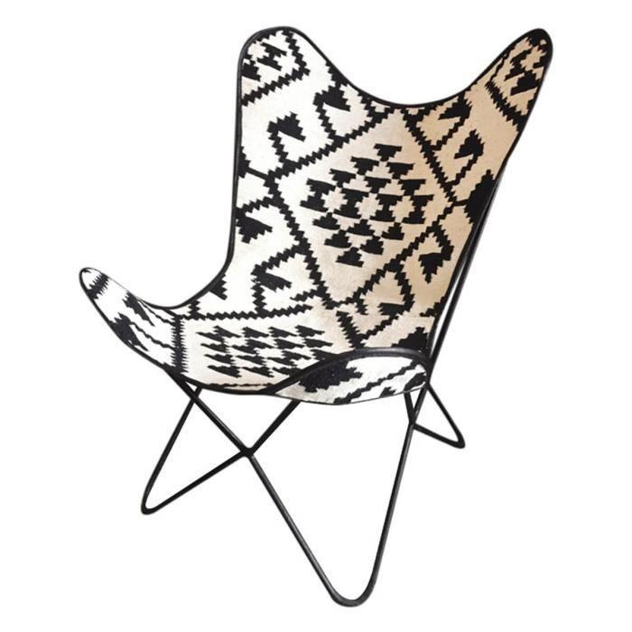 fauteuil fauteuil butterfly toile de jute ethnique sit. Black Bedroom Furniture Sets. Home Design Ideas