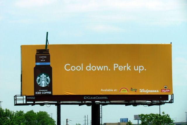 Starbucks Iced Coffee Billboard Design Billboard