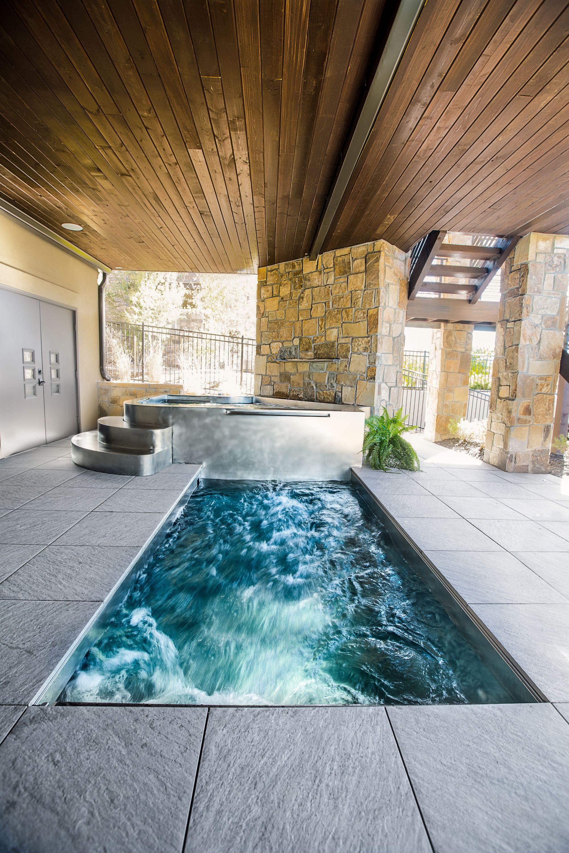 Swim Spa With Hot Tub Swim Spa Spa Design Endless Pool