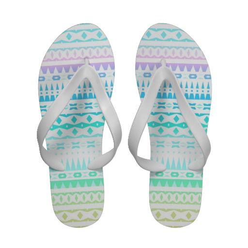 Freedom - Bright Aztec Flip Flops