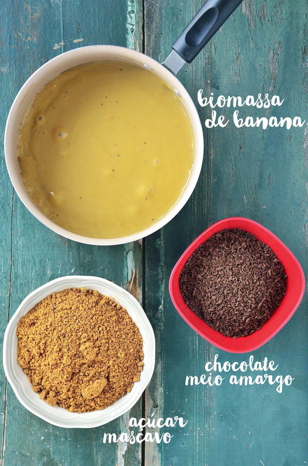 Ingredientes do mousse