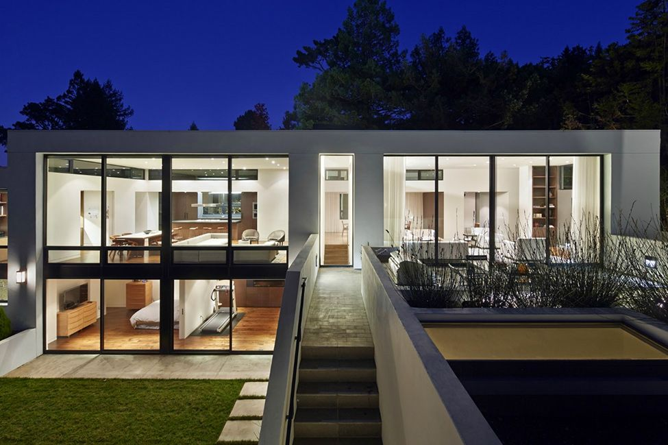 contemporary glass and steel homes google search - Modern Home Layout