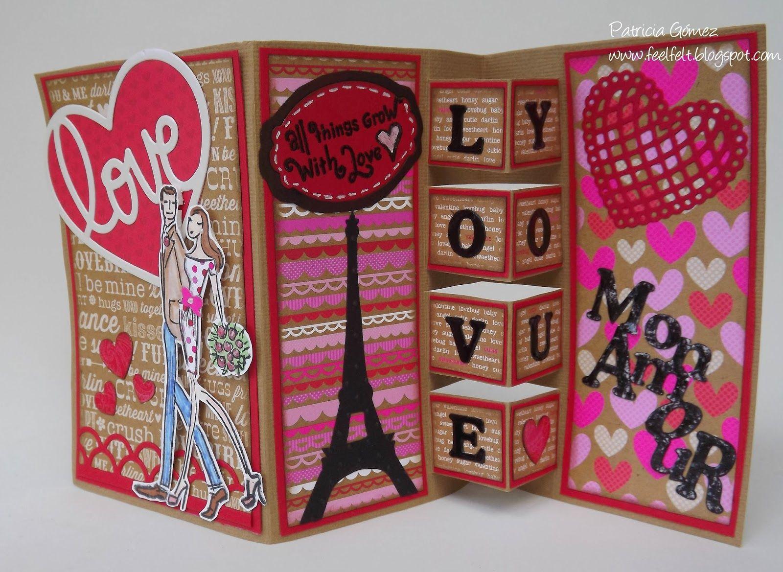Feel Felt San Valentin Building Block Card Originales  ~ Regalos Originales Para Hacer A Mano