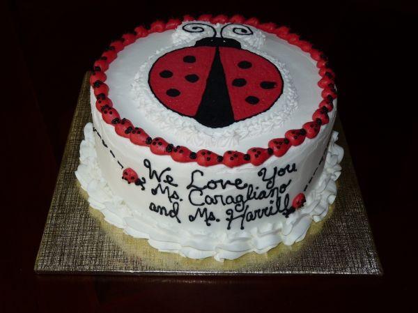Ladybug Cake ~ buttercream transfer Cake pops and more ...