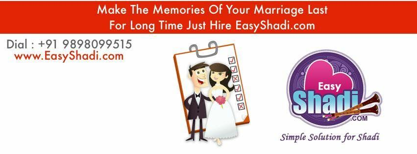 Make the memory of your marriage Last for long just here http://www.easyshadi.com/