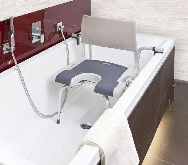 La silla suspendida de ba era sorrento de superficie suave y antideslizante cuenta con un - Silla ortopedica para banera ...