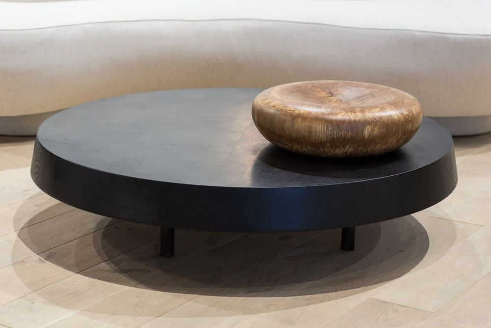 Floating Block Coffee Table Cube Coffee Table Round Wood Coffee