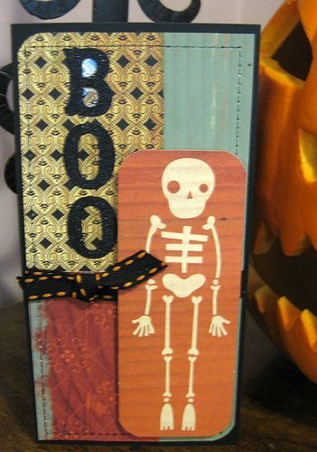 Erdos boo to you Handmade Halloween skeleton-card- by Indigo Wings, via Flickrboo to you Handmade Halloween skeleton-card- by Indigo Wings, via Flickr