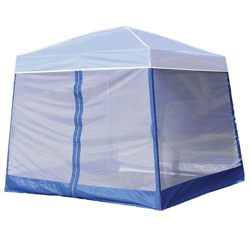 Z Shade Horizon 10 Foot Angled Leg Screen Room Patio Shelter Attachment Blue Screen Attachment Only In 2020 White Canopy Tent Canopy Tent Canopy Outdoor