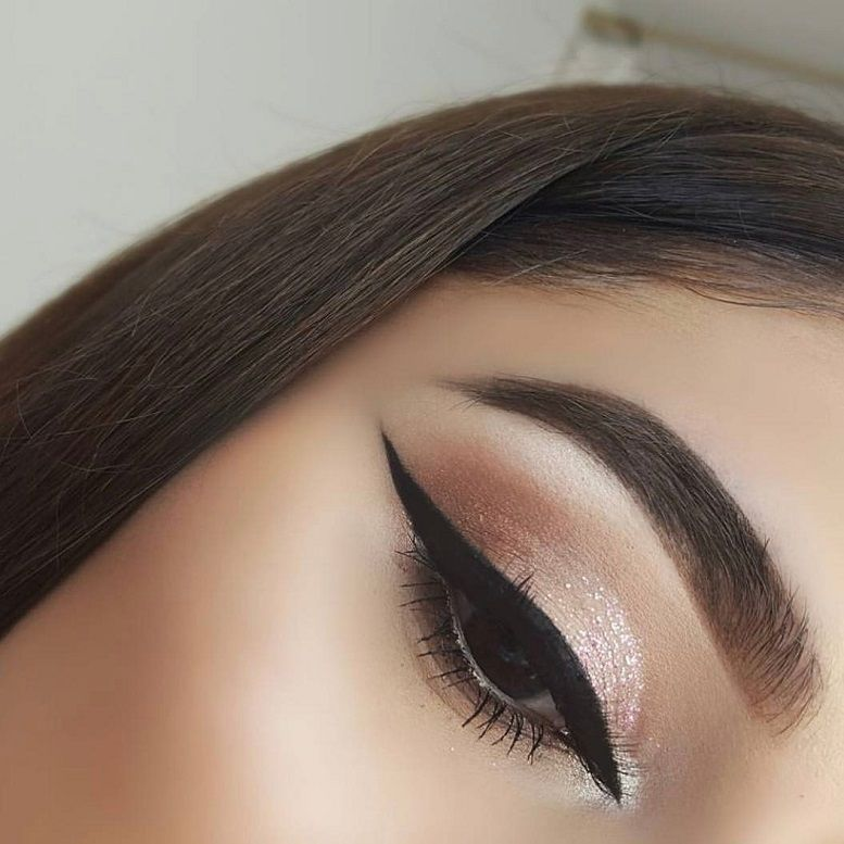 Nude gold eye makeup
