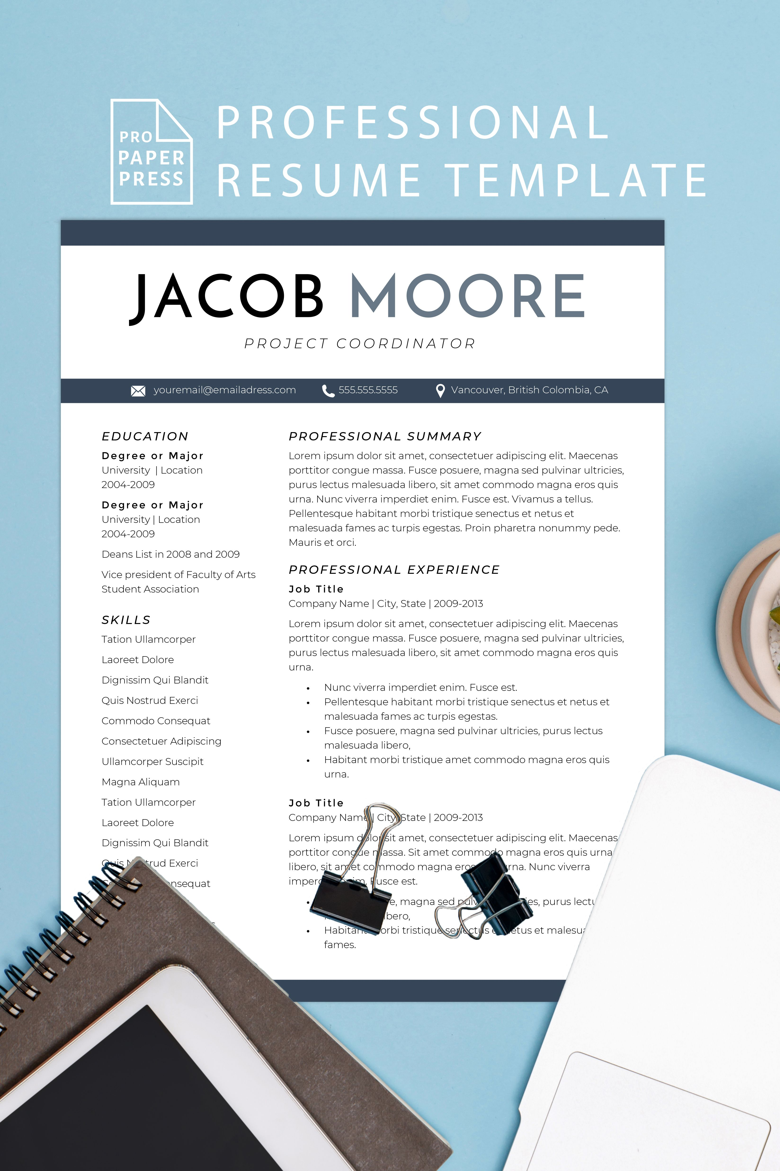 Accounting resume template executive cv template in 2020
