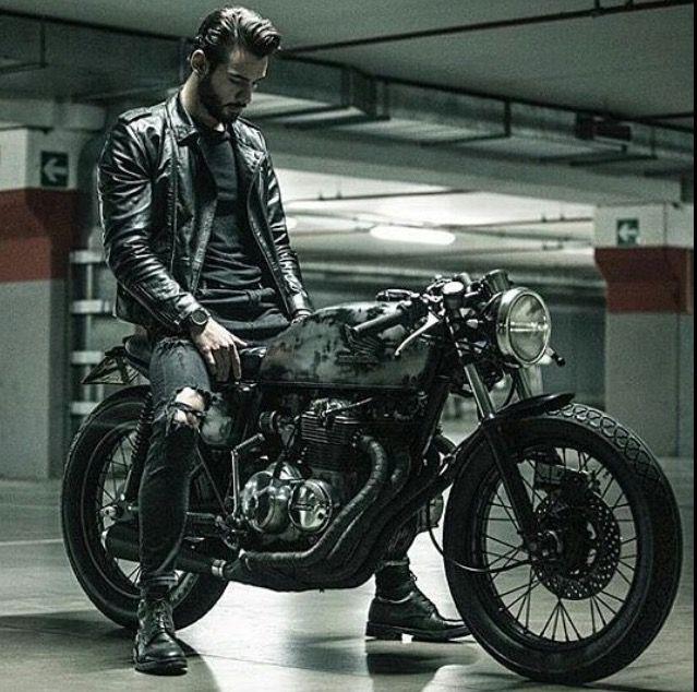 Motorcycle Men Outfit Scrambler Motos Bobber Cafe Racer Bikes Bike Racers Cb400 Style