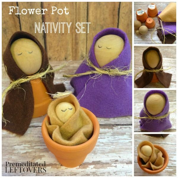 This sweet and simple flower pot nativity set can be made in a few this sweet and simple flower pot nativity set can be made in a few easy steps solutioingenieria Choice Image