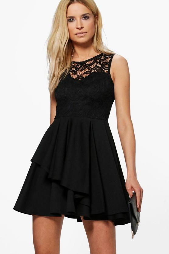 2d6729a04c Sophia Lace Top Layer Skirt Skater Dress
