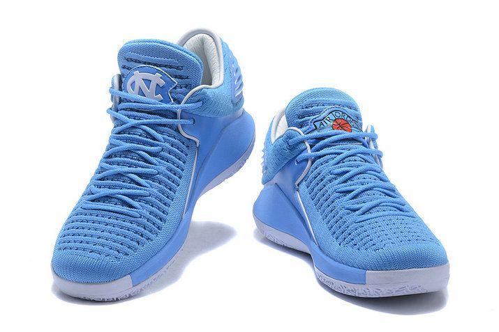 new style b70b1 4c219 2018 Authentic Air Jordan 32 Low North Carolina Blue Basketball Shoe