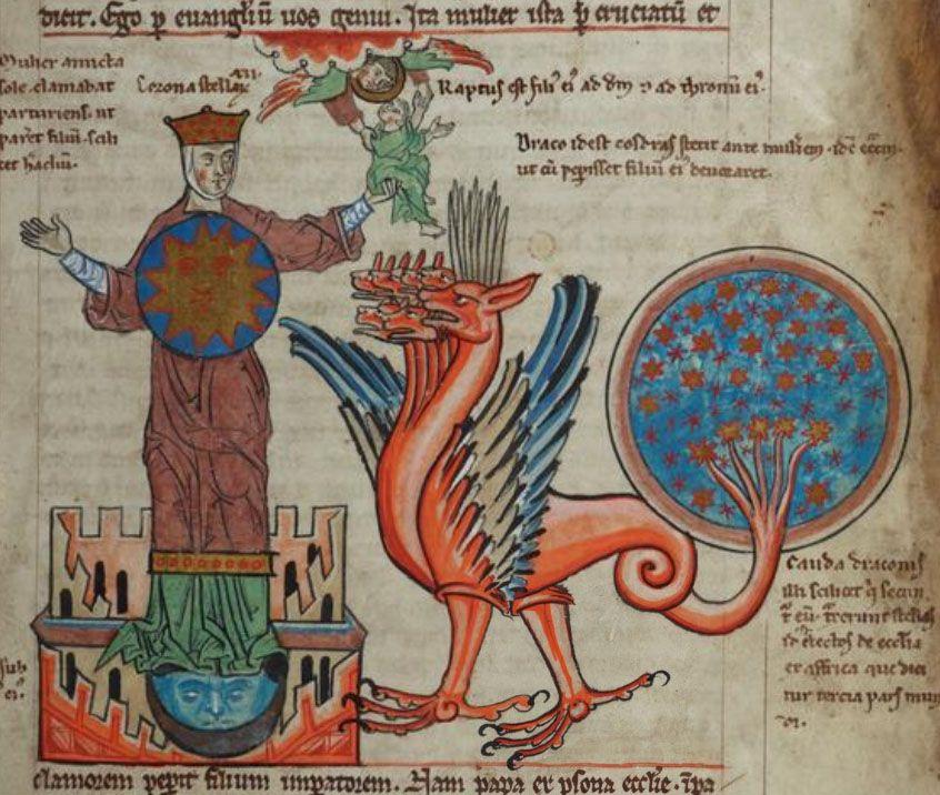 Alexander of Bremen, Expositio in Apocalypsim, 1250-1260. Cambridge Digital Library, MS Mm.5.31, f.76r. )