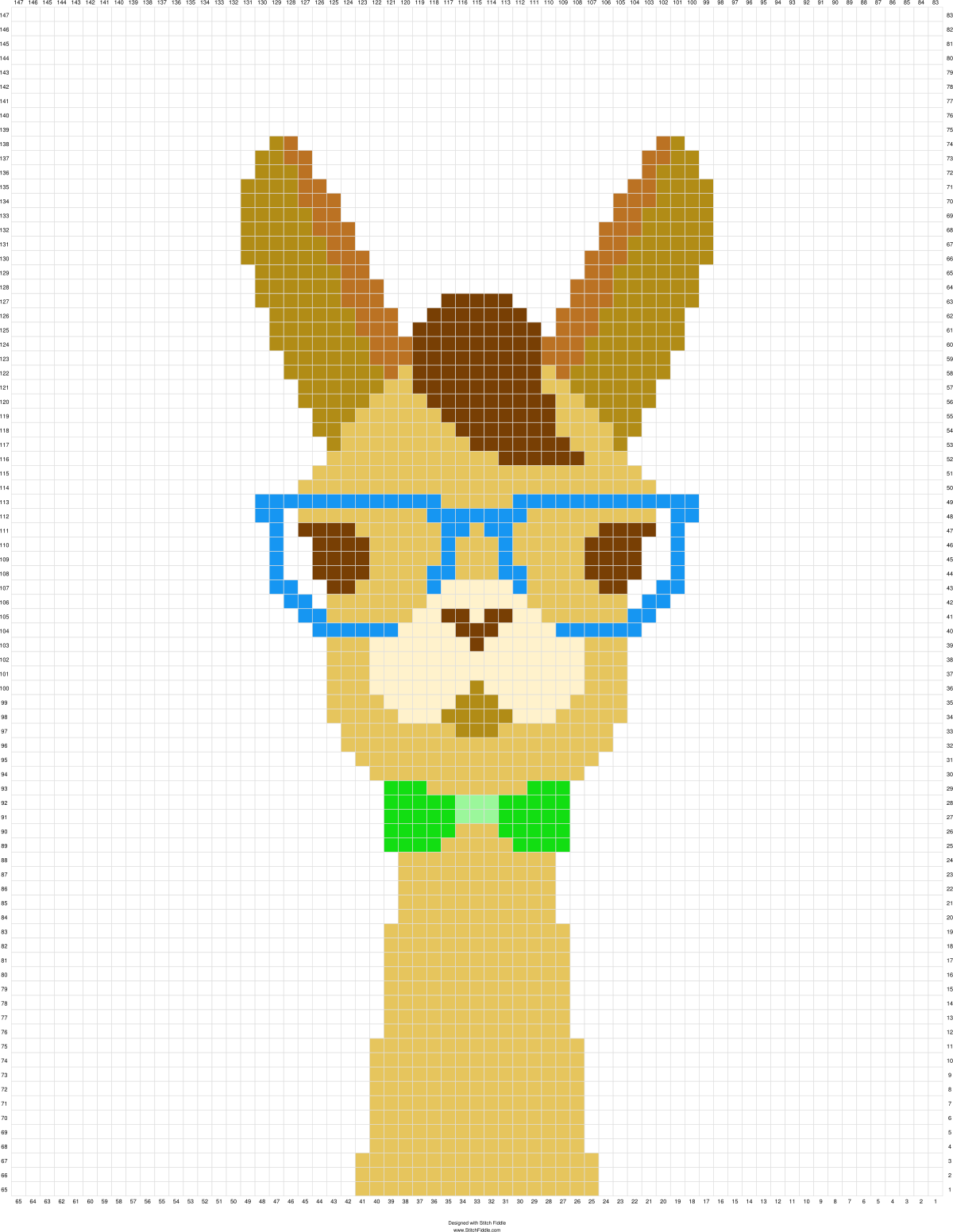 Llama graph for C2C blanket  Stitch Fiddle is an online crochet