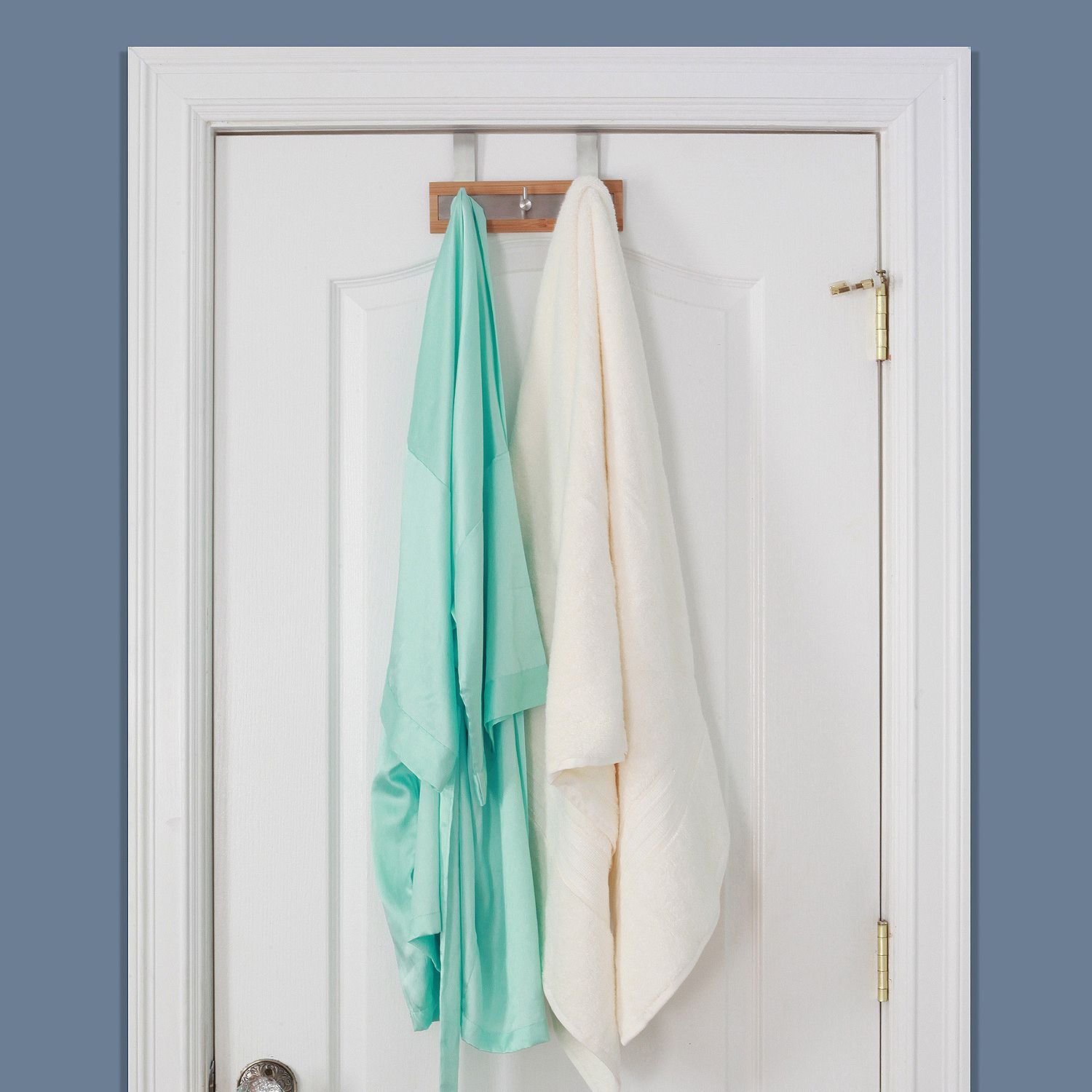 3 Over the Door Bamboo Hooks for Bathroom | Pinterest | Bathroom ...