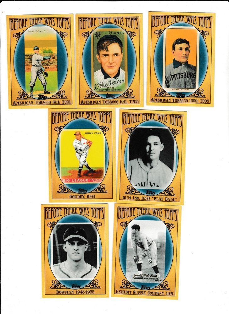 2011 topps baseball before there was topps complete set 1