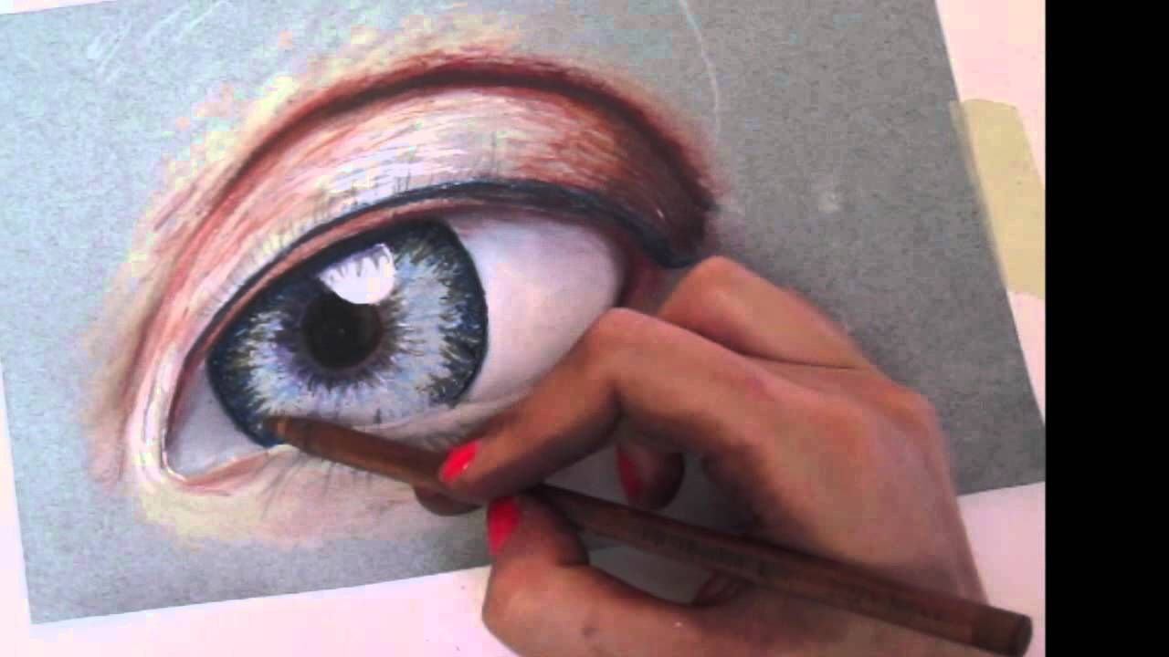 Time Lapse Drawing Eye Pastel Pencils Eye Drawing Pastel Pencils Drawings