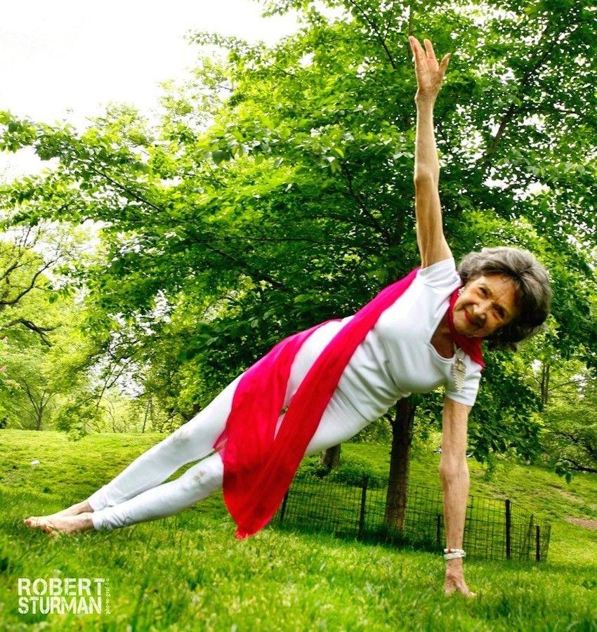 The World S Oldest Yoga Teacher Turns 97 Today Happy Birthday Tao Easy Yoga Poses Yoga Poses Yoga Instructors