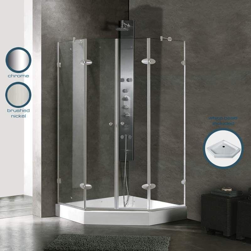 Vigo Vg606342w Frameless Shower Enclosures Shower Enclosure