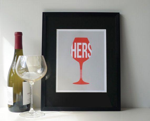 Wine print Kitchen art Wine art Bar print Kitchen print