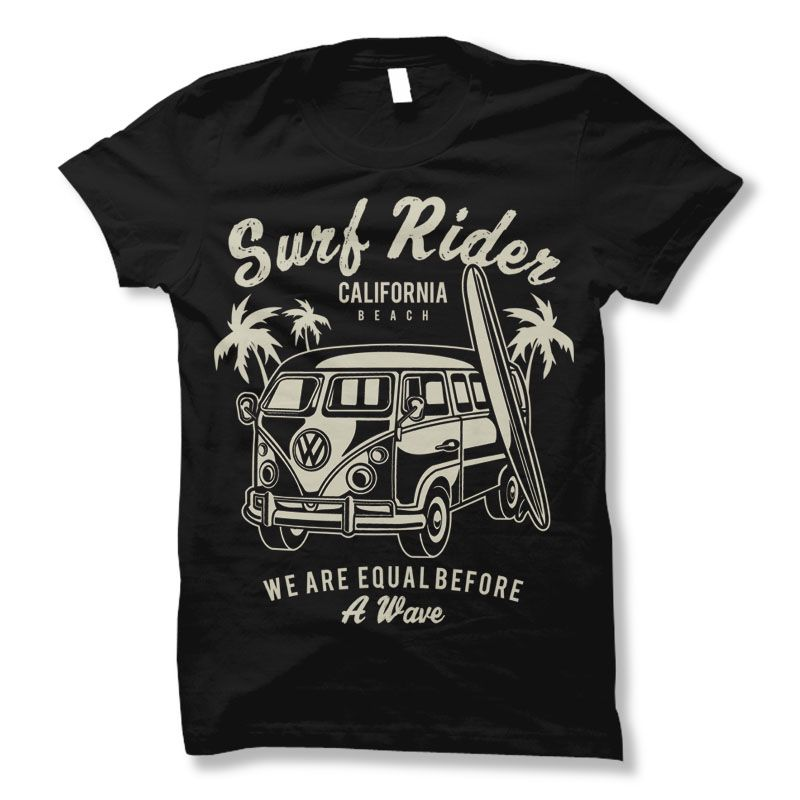 Surf Rider T Shirt Design 75 Tshirt Designs Template