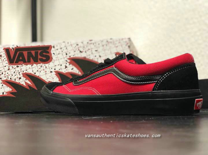 0fd2a48423 Official BILLYS x Vans Old Skool Style 36 Black Red Skate Shoe Vans For Sale -