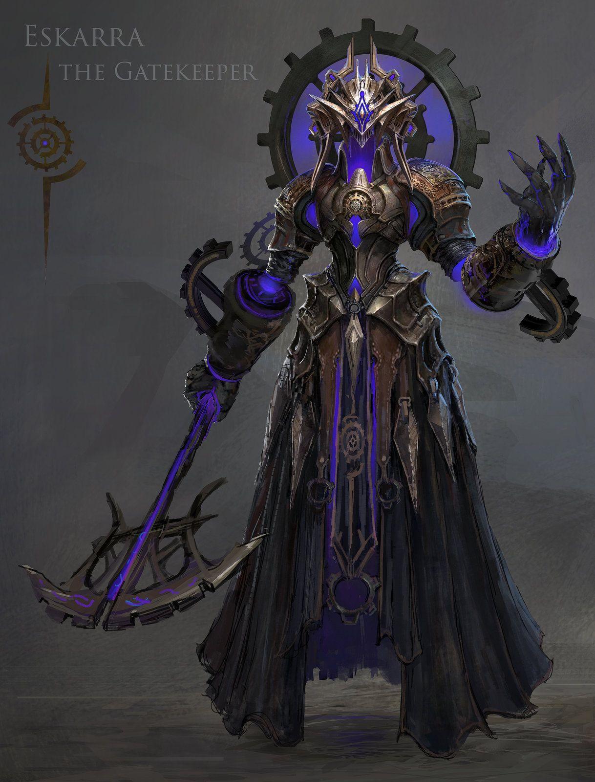 Eskarra the Gatekeeper, MuYoung Kim Fantasy armor