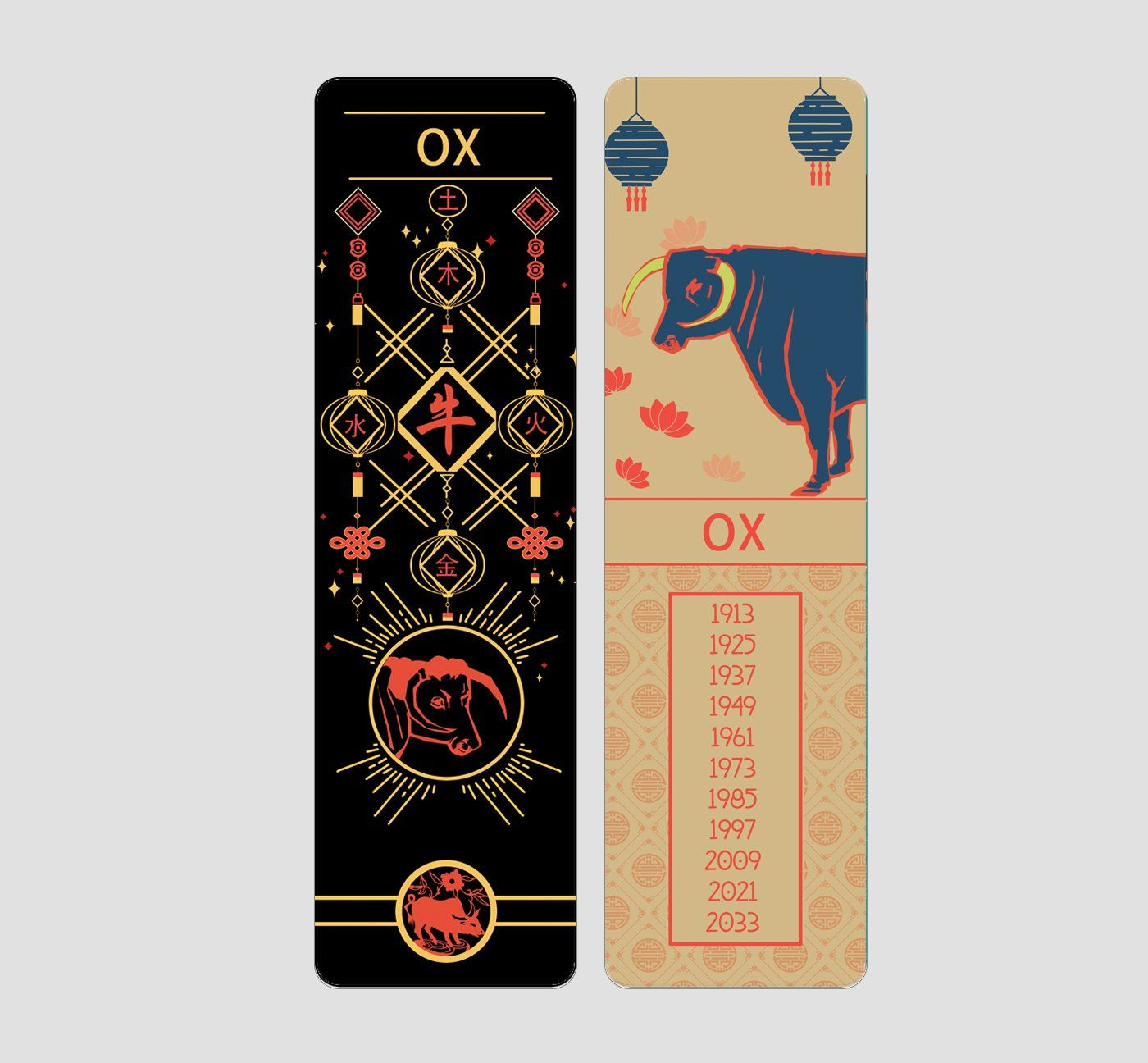 OX Chinese Zodiac Bookmark in 2020 Chinese zodiac signs