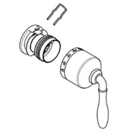 Grohe 47712000 Seabury Lever Handle Thermostatic Handle Assembly, Available in Various Colors, Silver